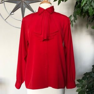 Yves St. Claire: Beautiful Red Blouse Vintage